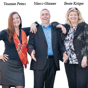 Yasmine Peters, MD, Marco Glauner, MD and Beate Krüger, MD, prime4services
